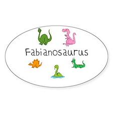 Fabianosaurus Oval Decal