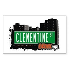 Clementine St, Bronx, NYC Rectangle Decal