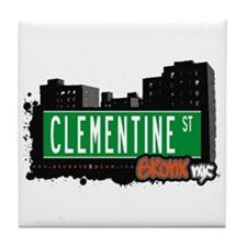 Clementine St, Bronx, NYC  Tile Coaster