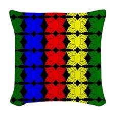 Afrocentric design Woven Throw Pillow