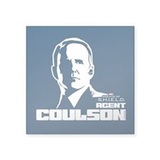 "Agent Coulson Square Sticker 3"" x 3"""