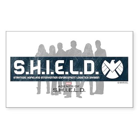 S.H.I.E.L.D. Sticker (Rectangle)