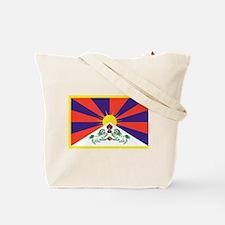 Tote Bag with Tibetan flag imprint