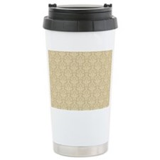 Elegant Cream Damask Pa Travel Coffee Mug