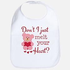 Bear Heart Melt Bib