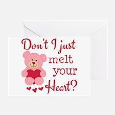 Bear Heart Melt Greeting Card