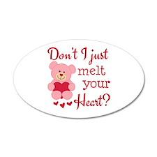 Bear Heart Melt Wall Decal