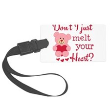 Bear Heart Melt Luggage Tag