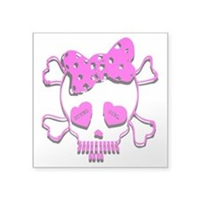 steno_girl_skull Sticker