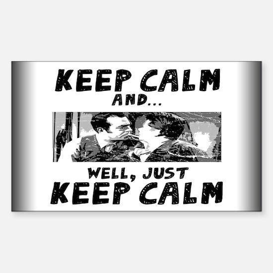 Keep Calm... Sticker (Rectangle)