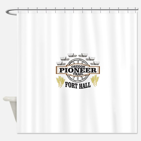fort hall pioneer rim Shower Curtain