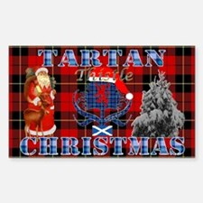 Red Tartan blue thistle Christ Decal