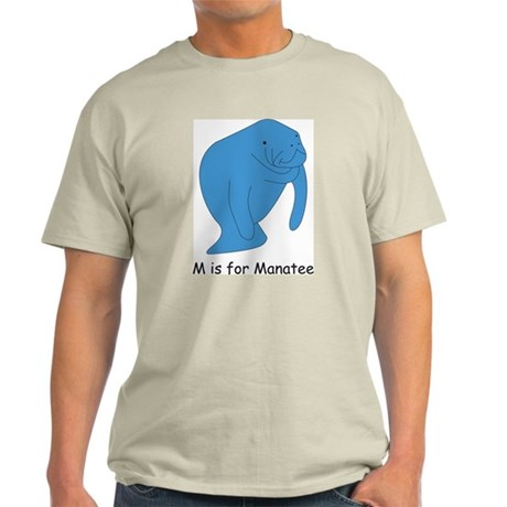 M is for Manatee Light T-Shirt