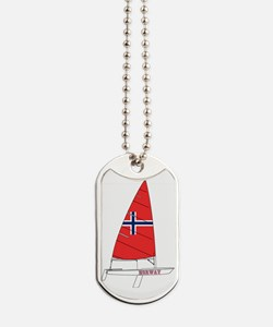 Norway Dinghy Sailing Dog Tags