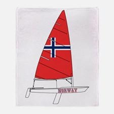 Norway Dinghy Sailing Throw Blanket