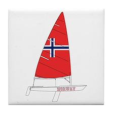 Norway Dinghy Sailing Tile Coaster