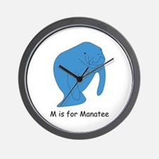 M is for Manatee Wall Clock