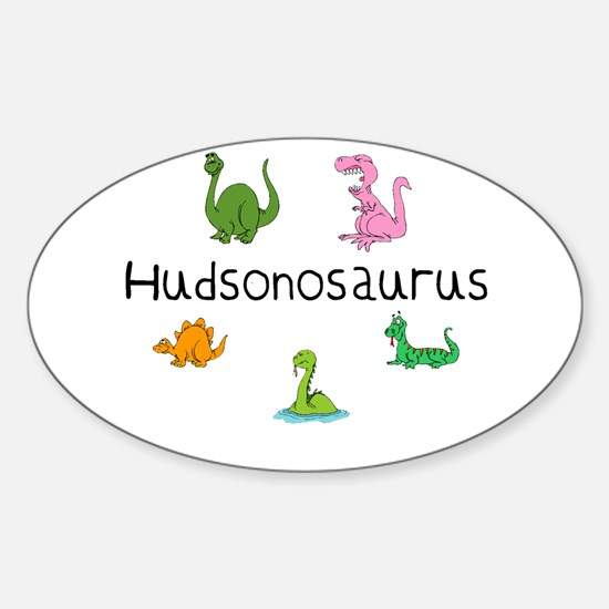 Hudsonosaurus Oval Decal
