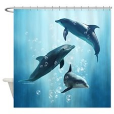 Dolphins in the Sea Shower Curtain
