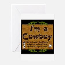 Im a Cowboy Greeting Cards
