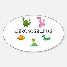 Jakobosaurus Oval Decal