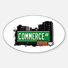 Commerce Av, Bronx, NYC Oval Decal
