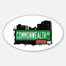Commonwealth Av, Bronx, NYC Oval Decal