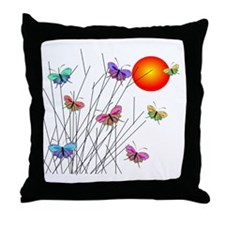 Butterflies at Sunset Throw Pillow