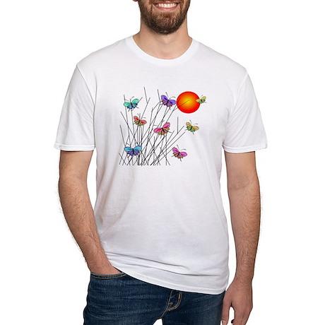 Butterflies at Sunset Fitted T-Shirt