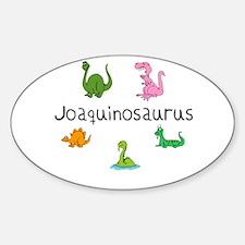 Joaquinosaurus Oval Decal