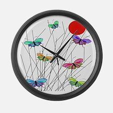 butterflies BEST SHower curtain Large Wall Clock