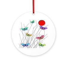 butterflies BEST SHower curtain Round Ornament