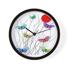 butterflies BEST SHower curtain Wall Clock