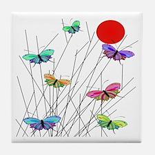 butterflies BEST SHower curtain Tile Coaster
