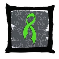 Muscular Dystrophy Fight Defy Win Throw Pillow