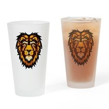 Lion Face Drinking Glass