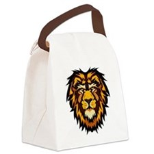 Lion Face Canvas Lunch Bag