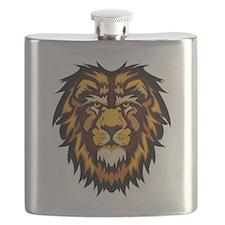 Lion Face Flask