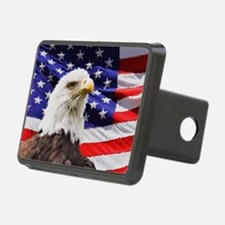 Patriotic Red White and Bl Hitch Cover