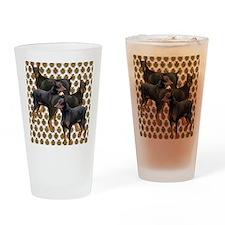 doberman grouping Drinking Glass