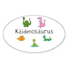 Kaidenosaurus Oval Decal
