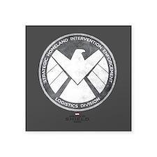 "Metal Shield Square Sticker 3"" x 3"""
