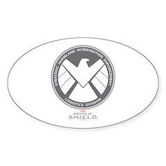 Metal Shield Sticker (Oval)