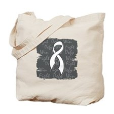 Lung Disease Fight Defy Win Tote Bag