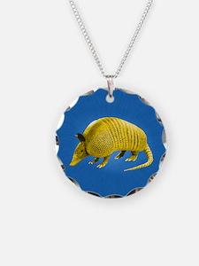 Yellow Armidillo on Blue Necklace