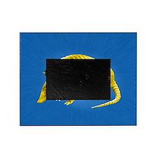 Yellow Armidillo on Blue Picture Frame
