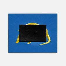 Yellow Armidillo on Blue Picture Frame