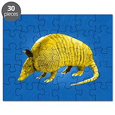 Yellow Armidillo on Blue Puzzle