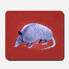Purple Armadillo on Red Mousepad