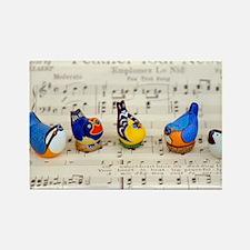 Bird Choir Rectangle Magnet